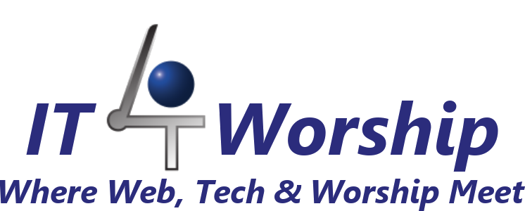 IT4Worship logo and tagline
